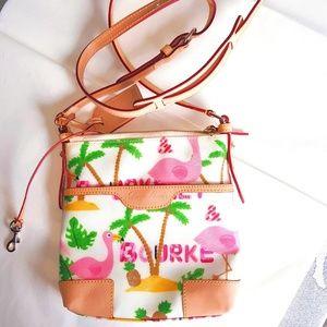 RARE Dooney Bourke Flamingo Pineapple Crossbody